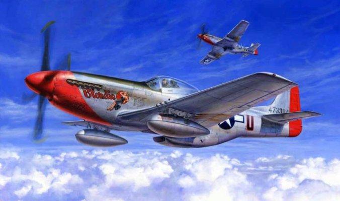 Tamiya 1/32 P-51D Mustang Box Art