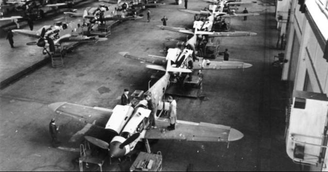 Produktion von Messerschmitt Me 109
