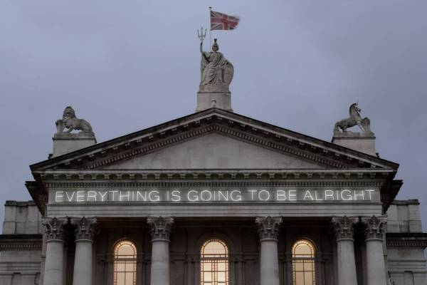 Work No. 203: EVERYTHING IS GOING TO BE ALRIGHT 1999 by Martin Creed born 1968