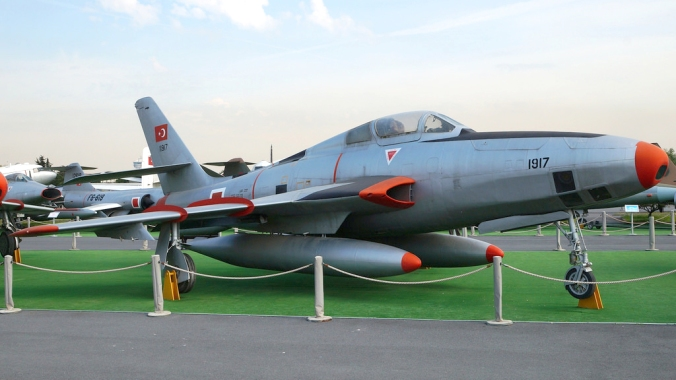 RF-84F on display at the Istanbul Aircraft Museum