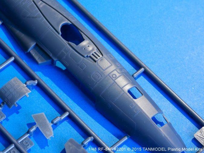 Rivet detail on the RF-84F test shot