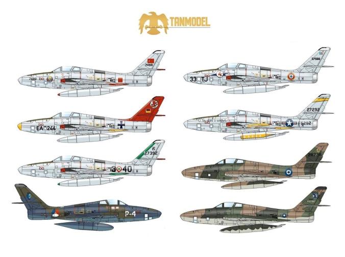 TanmodelRF-84FMarkings