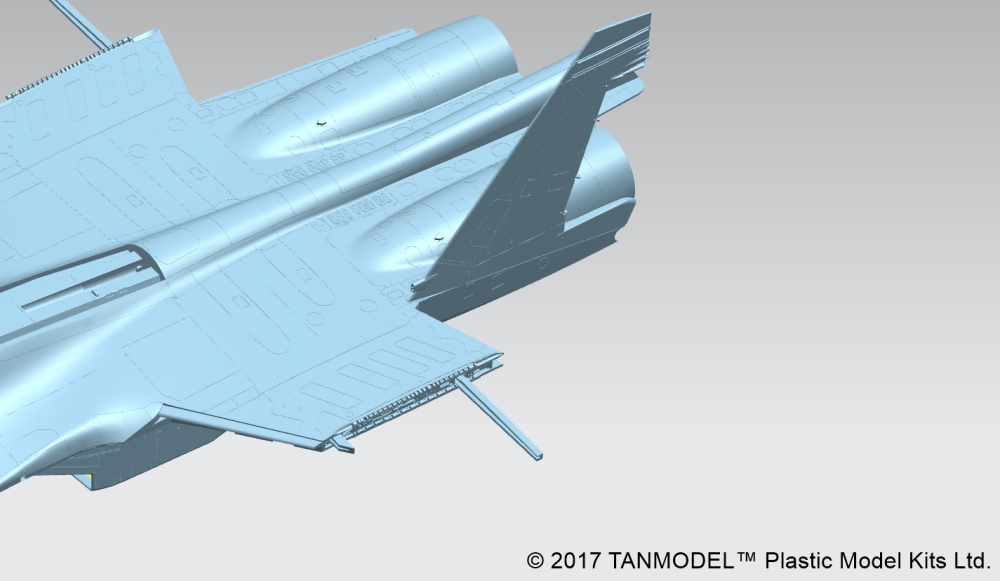 From this view it looks like the extended wings will have some nice spar supports